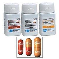 Sutent 25 mg Capsules 1X28 Mfg. By Pfizer USA