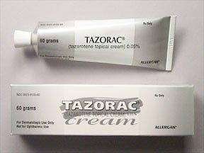 Tazorac 0.05% Cream 60 Gm By Allergan Inc.