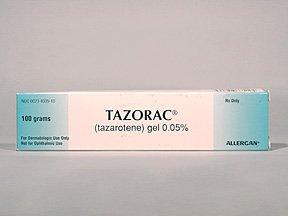 Tazorac 0.05% Gel 100 Gm By Allergan Inc.