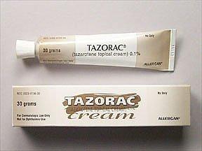 Tazorac 0.1% Cream 30 Gm By Allergan Inc.