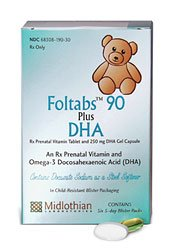 Foltablets 90 With Dha Kit 1X60 Each By Midlothian Labs