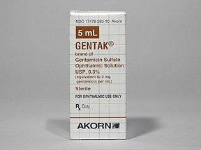 Gentak 0.3% Drop 5 Ml By Akorn Inc.
