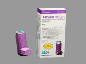 Advair HFA 45-21 Mcg Arin 12 Gm By Glaxo Smith Kline.