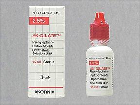 Ak-Dilate 2.5% Drops 1X15 ml Mfg. By Akorn Opthalmics