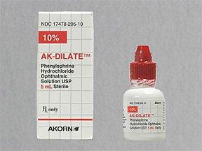 Ak-Dilate 10% Drops 1X5 ml Mfg. By Akorn Inc