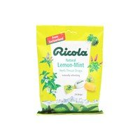 Image 0 of Ricola Herb Throat Drops Lemon-Mint Bag Lozenges 24