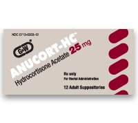 Anucort-Hc 25 Mg Suppositories 12 Unit Dose By G & W Labs.