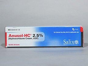 Anusol-Hc 2.5% Cream 30 Gm By Valeant Pharma.