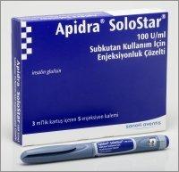 Apidra Solostar 100U/Ml Syringe 5X3 Ml By Aventis Pharma.