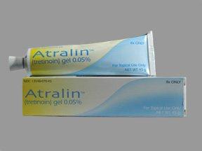 Atralin 0.05% Gel 45 Gm By Valeant Pharma.