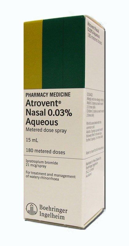 Atrovent 0.06% Nasal Spray Inhaler 15 Ml By Boehringer Ingelheim