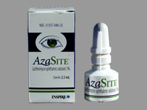 Azasite 1% Drops 1X2.5 ml Mfg.By:Inspire Pharmaceuticals Inc USA
