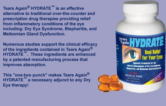 Tears Again Hydrate 1000-500-40 mg Gelcaps 1X120 Mfg. By Ocusoft Brand