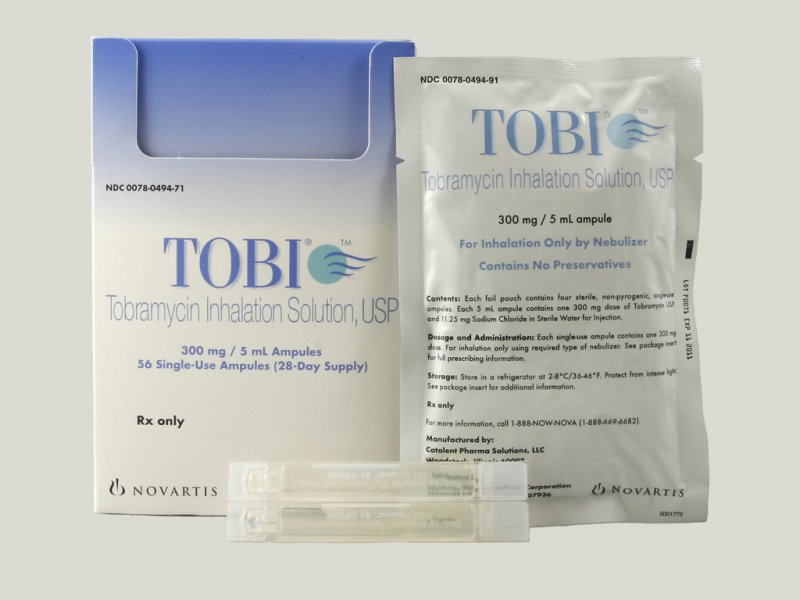 Tobi 300 mg/5ml Inhalation Solution 56X5 ml Mfg. By Novartis Pharm - Air