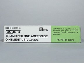 Triamcinolone Acetonide .025% Ointment 80 Gm By Fougera & Co