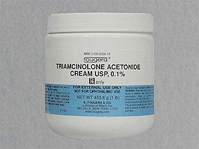 Triamcinolone Acetonide .1% Cream 1X453.6 Gm Mfg. By Fougera & Company