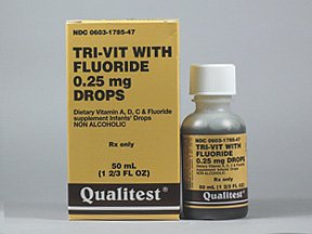Tri-Vitamin With Fluoride 0.25 Mg Df Drop 50 Ml By Qualitest Prod