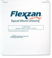 Bertek Flexzan 4'' X 4'' Topical Wound Dressing 10 Each Box