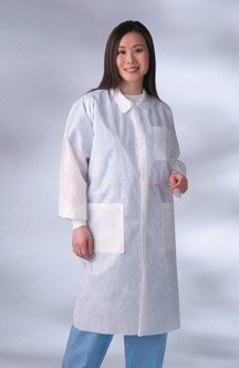 Busse Lab Coat Sms Large X-Large White 1Box Case