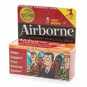 Airborne Effervescent Very Berry Tabs 10