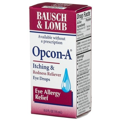 Bausch & Lomb Advanced Eye Relief Opcon-A Allergy Relief Drops 15 ml