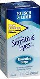 Bausch & Lomb Sensitive Eyes Rewetting Drops 1 Oz.