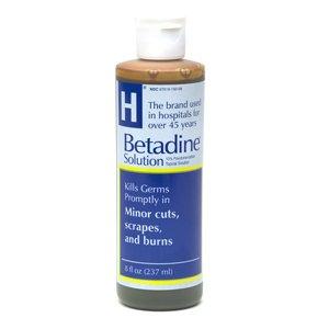 Betadine Antiseptic Solution 8 Oz