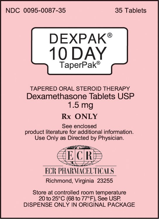 Dexpak 10 Day 1.5mg Tablets 35 By Valeant Pharma.