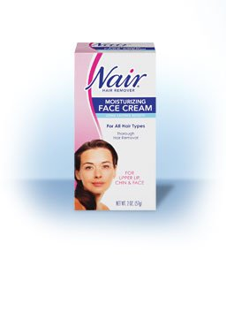 Image 2 of Nair Hair Remover For Face Cream With Baby Oil Tube 2 Oz