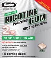 Image 0 of Nicotine 2 Mg Gum Fruit Sugar Free 100 Ct