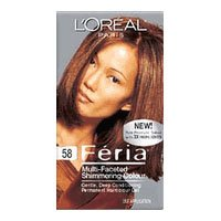 Image 0 of Loreal Feria Multi-Faceted Bronze Shimmering Medium Golden Brown #58 Hair Color
