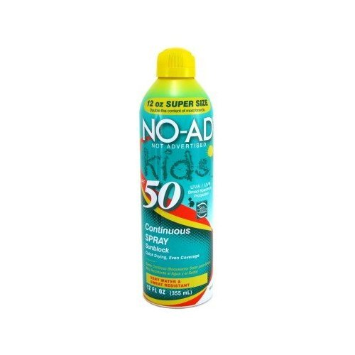 No Ad Kids Sunblock Continuous Spray SPF 30 10 oz