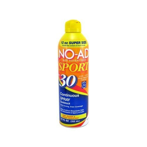 No-Ad Sport Sunblock SPF30 Continuous Spray 12 oz