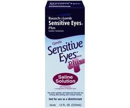 Bausch & Lomb Sensitive Eyes Plus Saline Solution 12 Oz
