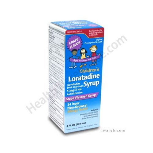 Loratadine Children Grape Syrup 120ml One In Each
