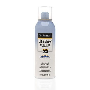 Neutrogena Ultra Sheer Body Mist SPF 100 Spray 5 Oz