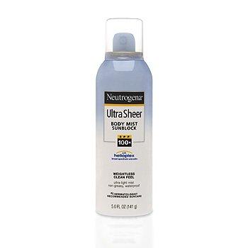 Neutrogena Ultra Sheer Body Mist SPF 100 Spray 5 Oz