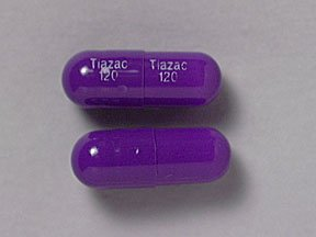 Tiazac 120 mg Capsules 1X30 Mfg. By Forest Pharmaceuticals