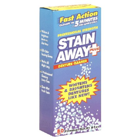 Stain Away Plus Professional Strength Denture Cleanser Powder 8.1 Oz