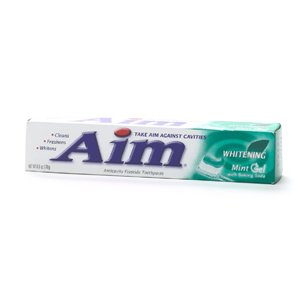 Aim Whitening With Baking Soda Mint Gel Toothpaste 6 oz
