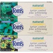 Toms of Maine Antiplaque Tartar Control+Whitening Peppermint Toothpaste 12X1 oz