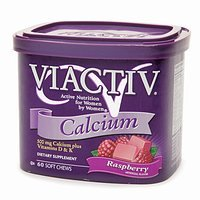 Viactiv Calcium Plus Vitamin D & K Raspberry Soft Chews 60