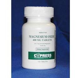 Magnesium Oxide 400 Mg Tablets 120 By Cypress Pharma