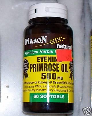 Evening Primrose Oil Mfg. By Mason Vitamins Softgel 60