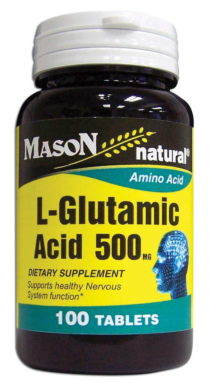 Image 0 of L-Glutamic Acid 500mg Amino Acid Dietary Supplement Tablets 100