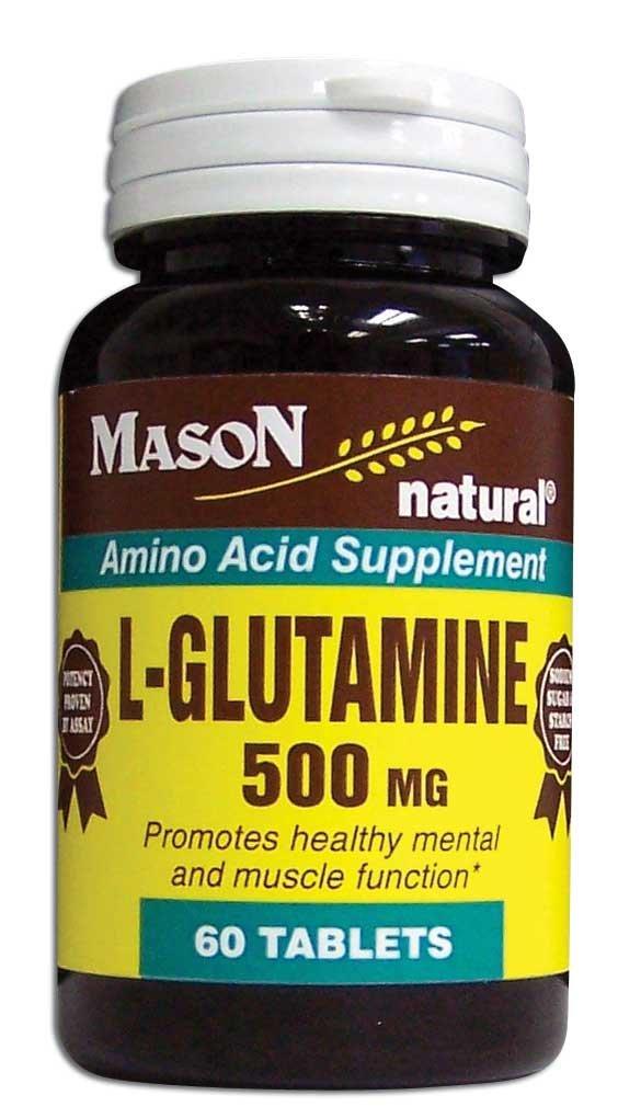 Image 0 of L-Glutamine 500 mg Amino Acid Supplement Tablets 60