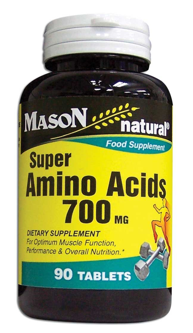Image 0 of Super Amino Acids 700 mg Dietary Supplement Tablets 90