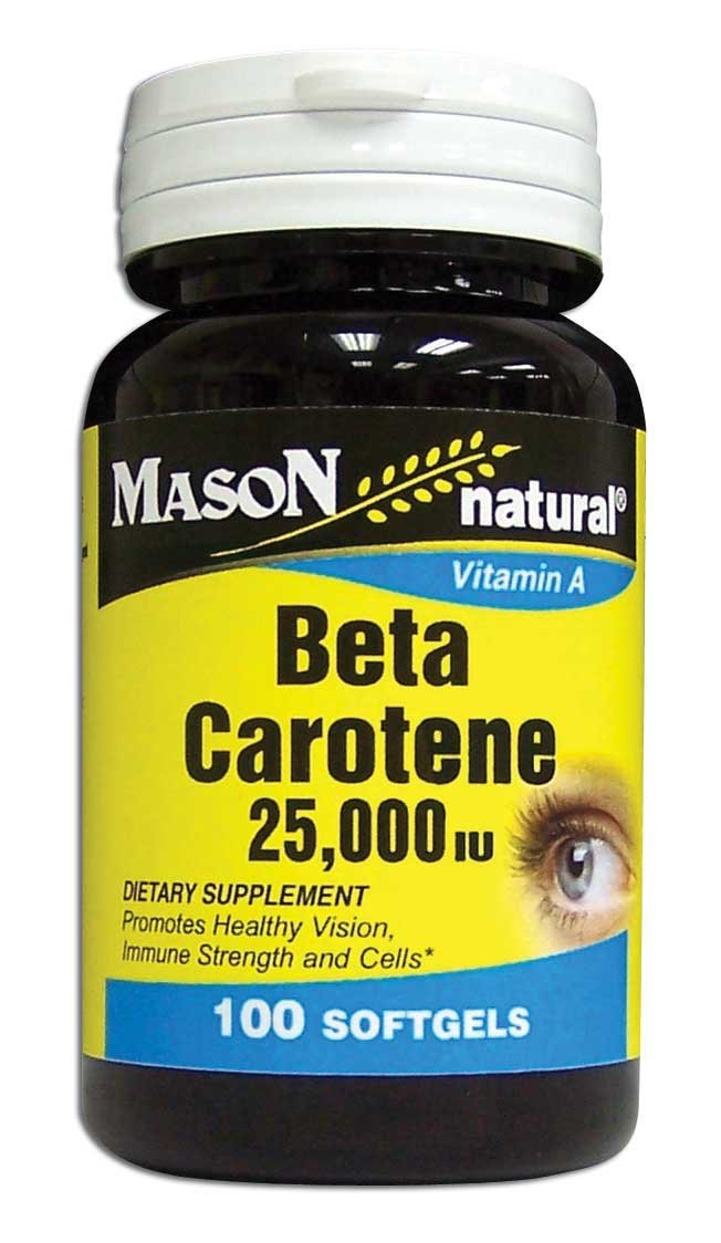 Image 0 of Beta Carotene 25 000 Units Vitamins A Dietary Supplements Softgels 100