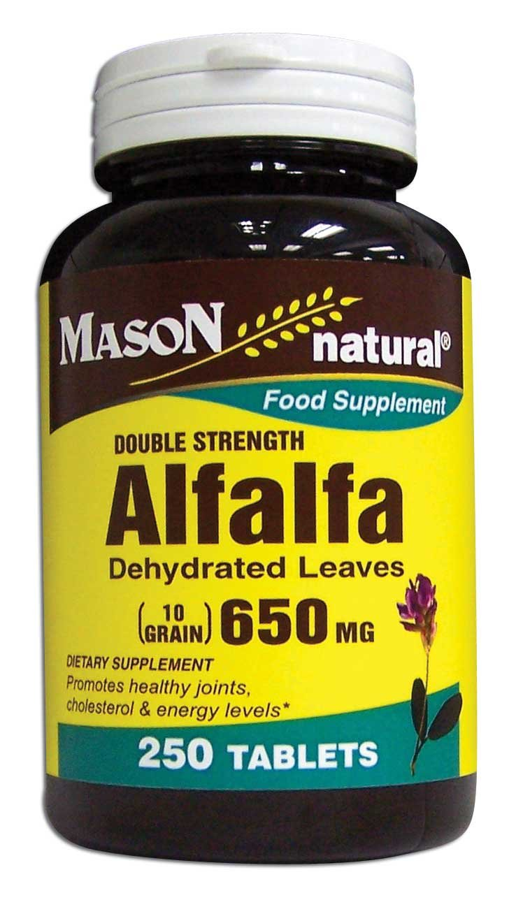 Image 0 of Alfalfa 650mg Double Strength Food Supplement Tablets 250