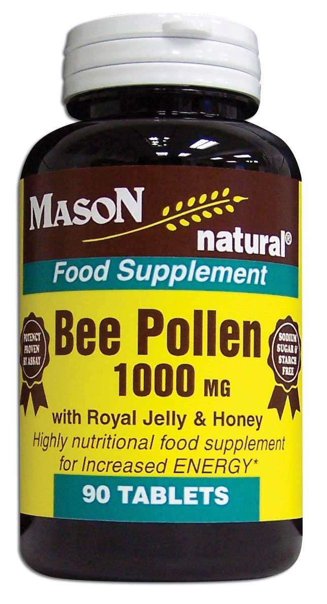 Image 0 of Bee Pollen 1000mg With Royal Jelly And Honey Food Supplement Tablets 90